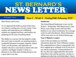 Newsletter 2021, Term 1 Week 4