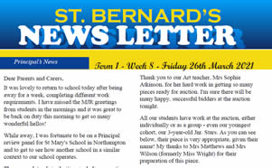 Newsletter 2021, Term 1 Week 8