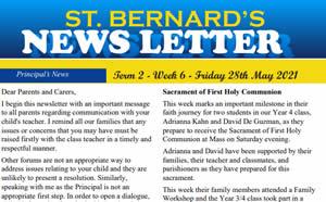 Newsletter 2021, Term 2 Week 6