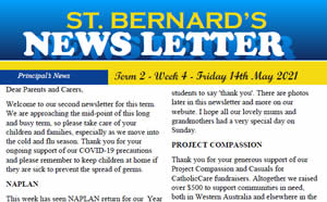 Newsletter 2021, Term 2 Week 4