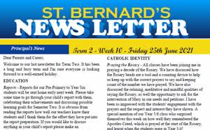 Newsletter 2021, Term 2 Week 10