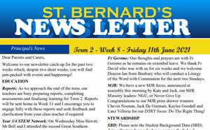 Newsletter 2021, Term 2 Week 8