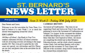 Newsletter 2021, Term 3 Week 2