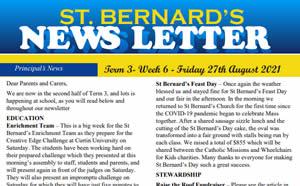 Newsletter 2021, Term 3 Week 6